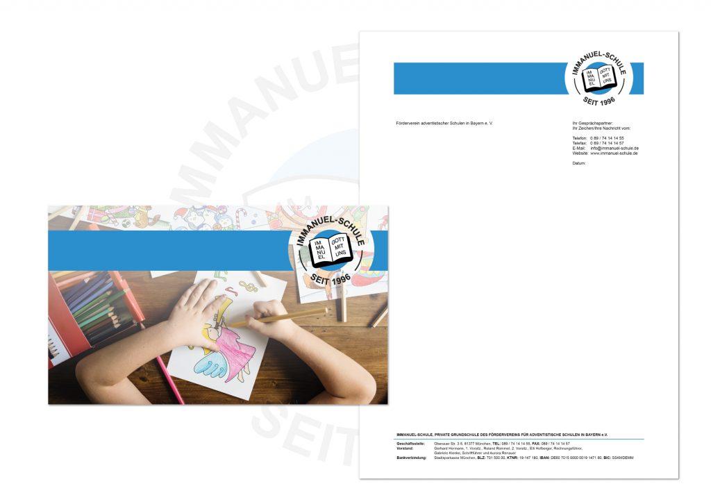 Briefbogen und Umschlag